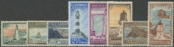 NZ Lighthouses SGL42-49 1947 New Lighthouse designs set of 8